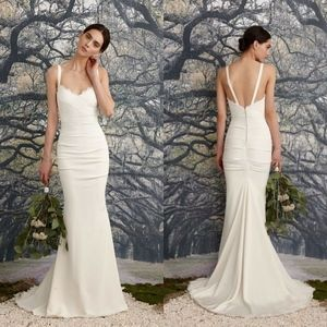 fbf2d43041 Nicole Miller White Wedding Bridal Dress Gown 6